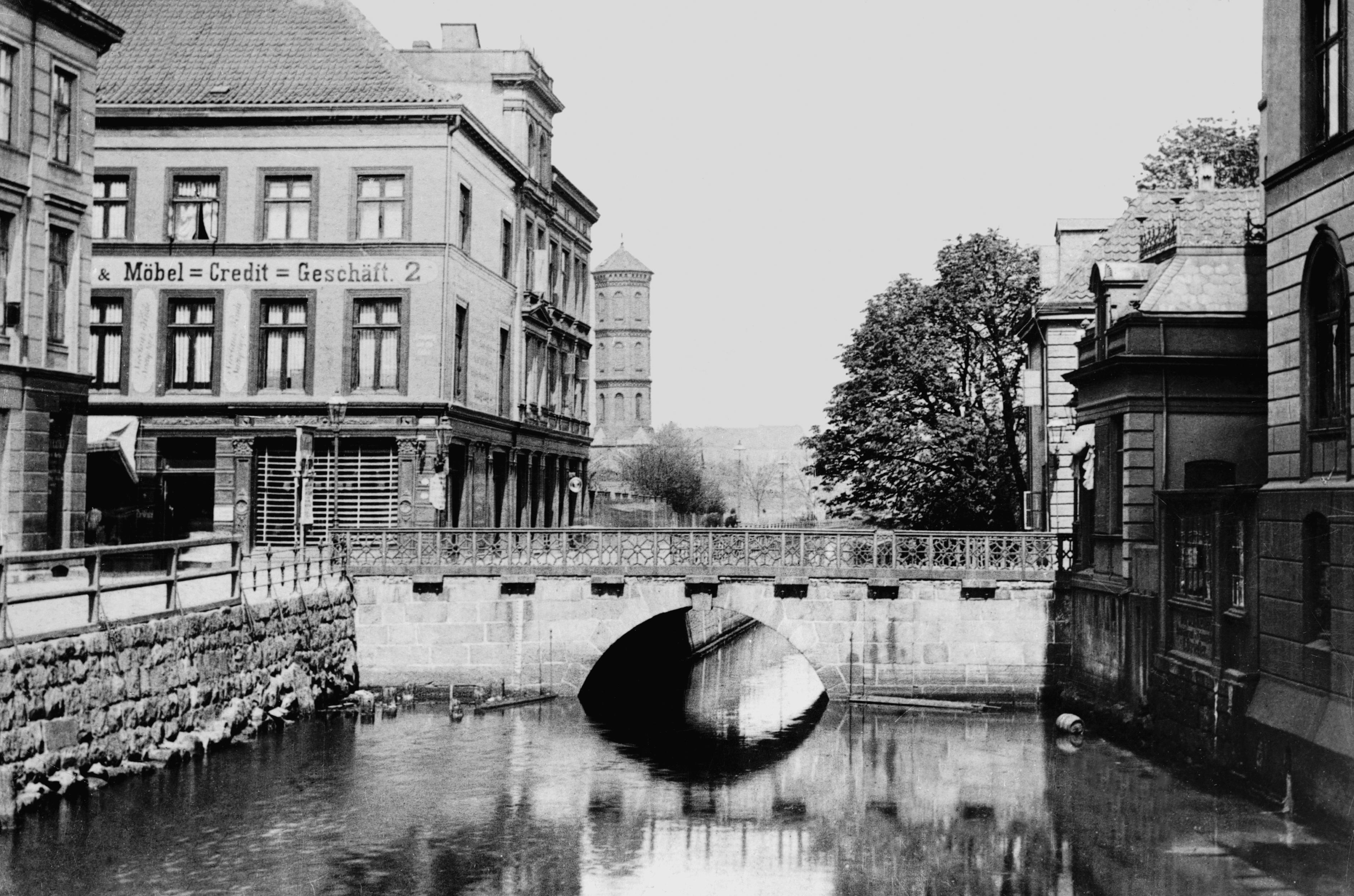 Ansicht Holstenbrücke Ost-West um 1890 _Städtische Lichtbildstelle der Landeshauptstadt Kiel