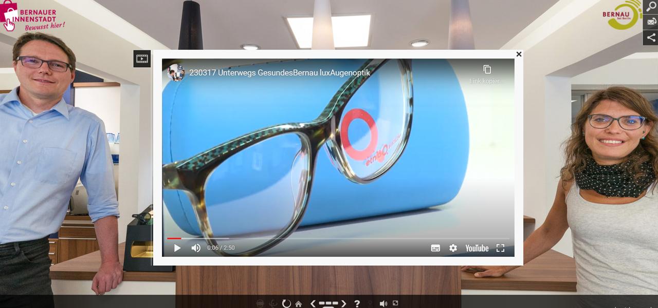 Mitglieder der Werbegemeinschaft: lux Augenoptik mit Imagevideo – Fotograf Stefan Klenke für vr-easy - © BeSt Bernauer Stadtmarketing GmbH