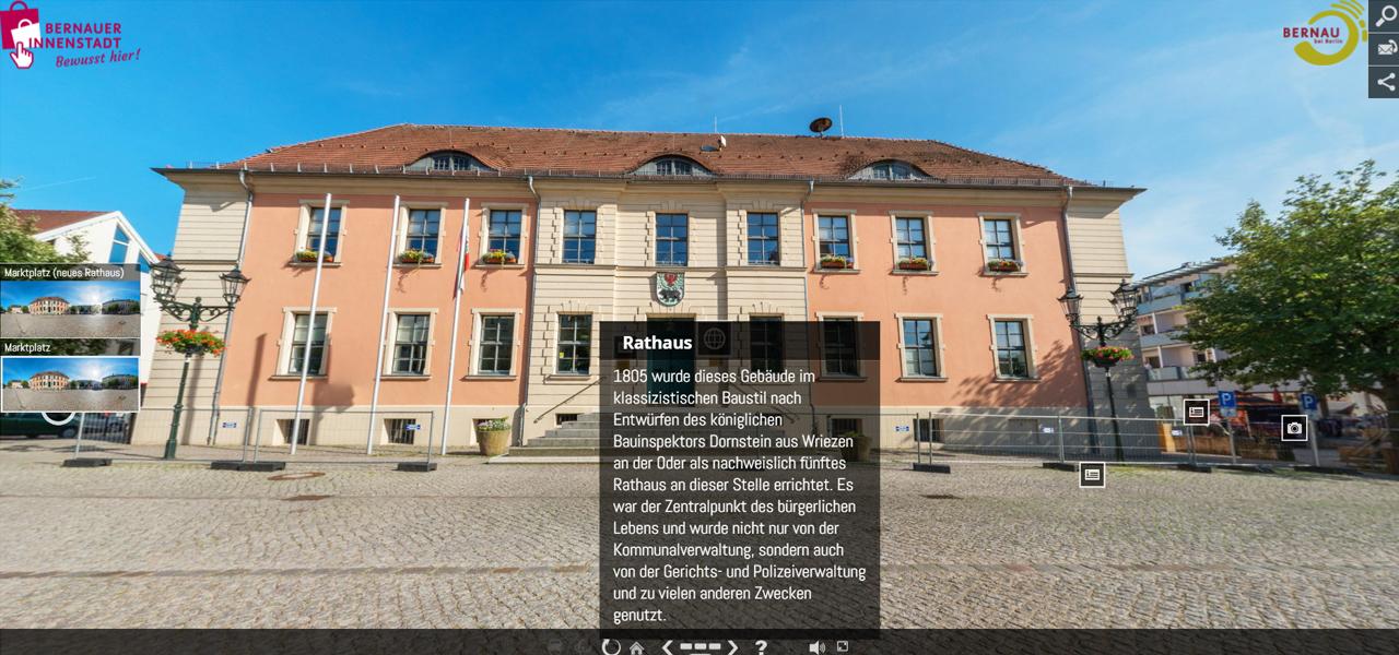 Historisches Rathaus – Fotograf Stefan Klenke für vr-easy - © BeSt Bernauer Stadtmarketing GmbH