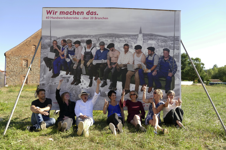 Die Arbeitsgruppe beim feierlichen Start der Imagekampagne_Fotograf Thomas Frömel, © netzwerkNABburg