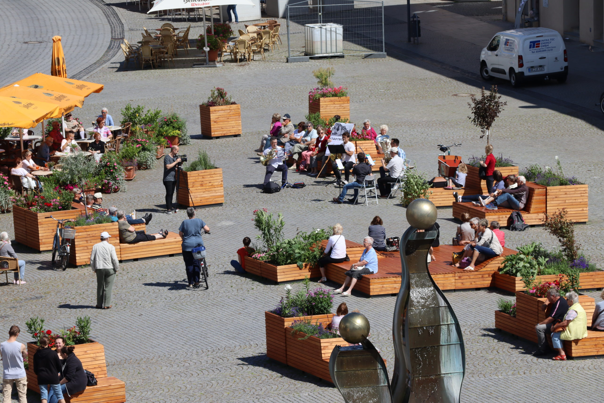Gartenträume-Lounge Marktplatz Dessau_© Stadt Dessau-Roßlau