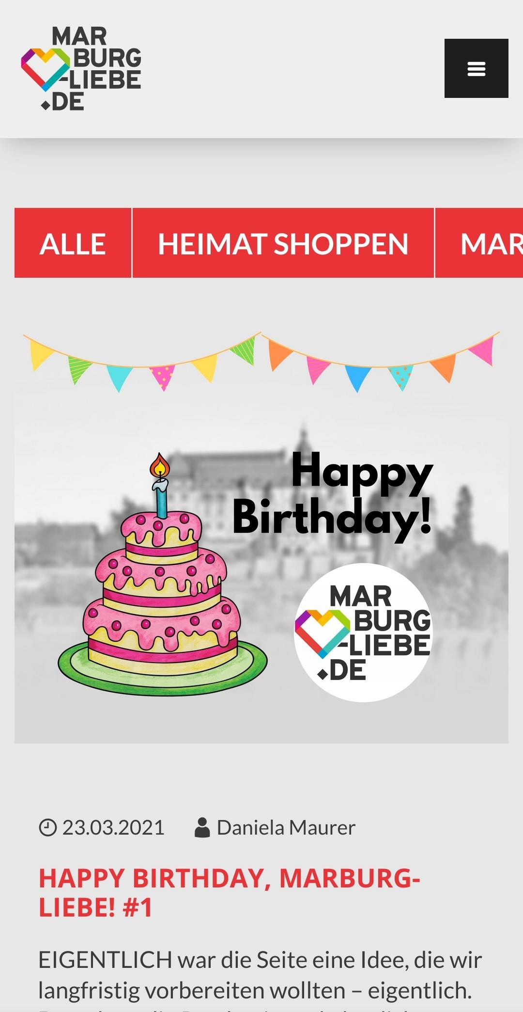 Smartphone-Ansicht Blog ML_Marburg_Stadtmarketing Marburg 2021